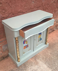 Antique Upcycled Chiffonier / Sideboard / Hall Cupboard