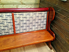 368.......Stunning Upcycled Settle Or Vintage Pew Bench