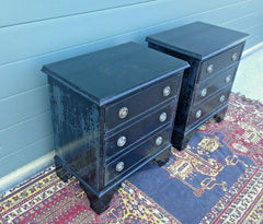 230.....Bedside Cabinets / Pair Of Refinished Vintage Bedside Chests