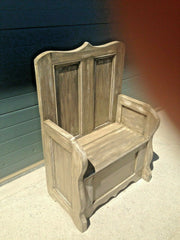 228.....Vintage Pine Hall Seat / Heavy Pine Settle ( SOLD )