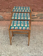 344.....Retro Nest Of Tables....Upcycled Nest Of 3 Coffee Tables