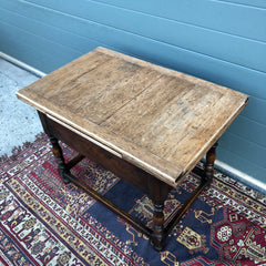 145.....Lovely Rustic Oak Coffee Table / Vintage Extending Side Table