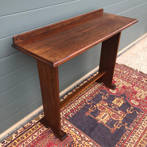 148.....Vintage Arts And Crafts Style Hall Table / Gothic Style Side Table