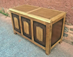 Vintage Oak Coffer / Linen Fold Blanket Box / Oak Chest