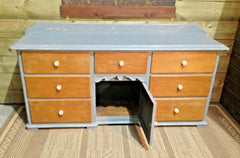 373.....Antique Country Pine Sideboard / Large Pine Dresser Base