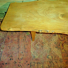 418.....Vintage Rustic Coffee Table / Solid Ash Coffee Table