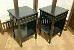 A Pair Of Vintage Empire Style Bedside Tables / Pair Of Lamp Tables