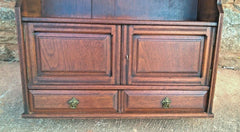 Arts And Crafts Antique Wall Cabinet / Antique Walnut Wall Cabinet