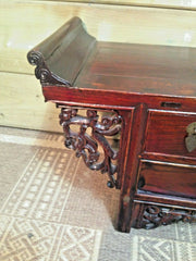 Gorgeous Small Oriental Altar Table.....Carved Oriental Stand