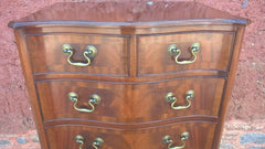 Vintage Serpentine Tallboy Chest / Tall Chest Drawers