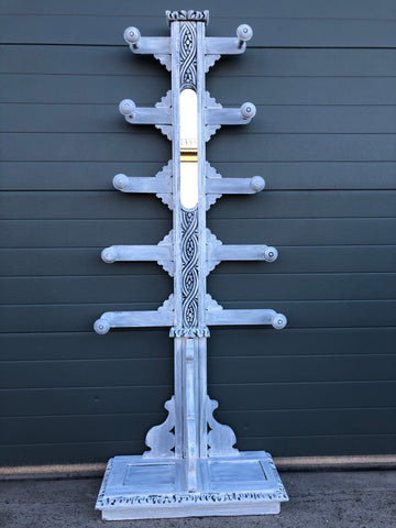 149.....Antique Carved Oak Hall Stand / Country House Coat Rack