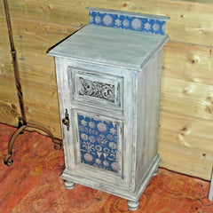 416.....Antique And Unique Upcycled Bedside Cabinet / Upcycled Bedside Table