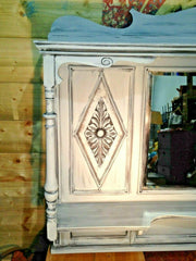 421.....Stunning Vintage Overmantel Mirror / Overmantle Mirror