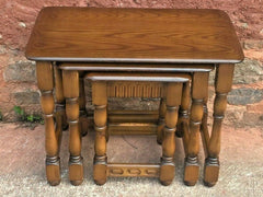 356.....Nest Of Tables Made By Priory Furniture Vintage Nest Of Three Coffee Tables