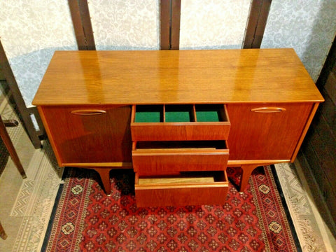 374.....Retro Sideboard By Jentique / Compact Vintage Teak Sideboard