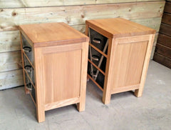 359.....Pair Of Bedside Chests, Bedside Cabinets Refinished In Art Deco Style