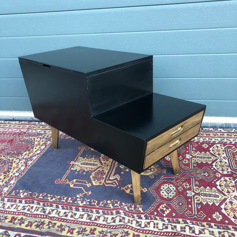 146.....Stylish Retro Workbox / Upcycled Mid Century Sewing Box