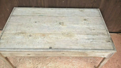 Lovely Faded Sun Bleached Pine Coffee Table / Retro Table