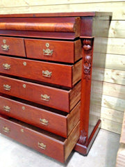 Magnificent Antique Mahogany Chest Of Drawers / Large Chest