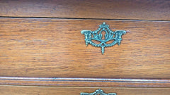 278.....Gorgeous Bijou French Vintage Oak Chest Of Drawers / French Oak Bedside Chest