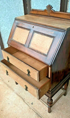 Gorgeous Oak Bureau / Oak Writing Desk