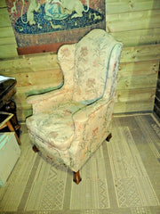 397.....Vintage Wing Armchair / Early 20th Century Wingback Chair