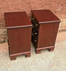 Pair Of Mahogany Bedside Chests Vintage Bedside Tables