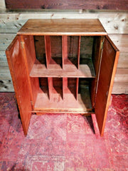 420.....Vintage Upcycled Record Cabinet / Oak Record Cabinet