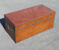 Leather Bound Antique Chest