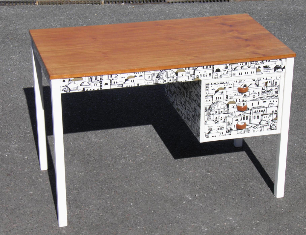 Danish Retro Desk With Chair