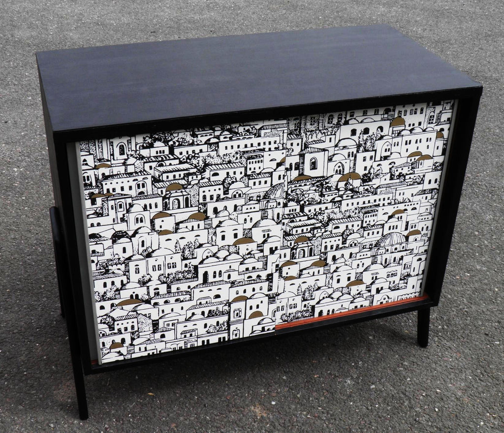 Retro Cabinet With Fornasetti Decoupage