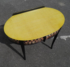 Vintage Art Deco Writing Table With Egyptian Decoration