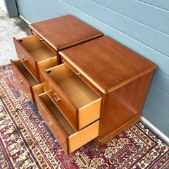 155.....Pair Of Stag Bedside Chests / Stag Bedside Cabinets ( SOLD )