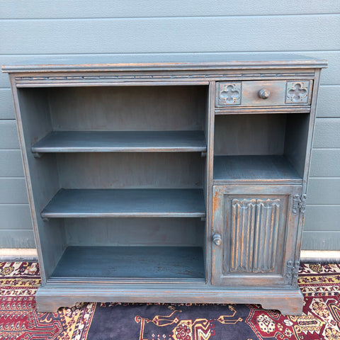 151.....Vintage Old Charm Bookcase / Refinished Woods Bros Side Cabinet