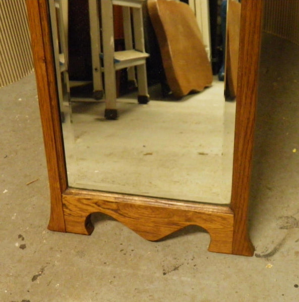 Arts And Crafts Oak Cheval Mirror Ipplepen Interiors
