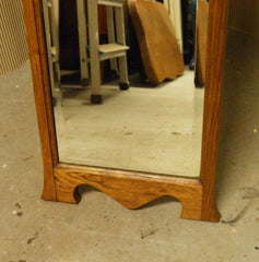 Arts And Crafts Oak Cheval Mirror