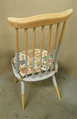 Vintage Upcycled Set Six Ercol Goldsmith Windsor Chairs