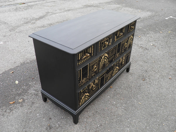 Upcycled Retro Stag Minstrel Range Decoupage Chest Drawers ...