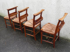 A Set Of Four French Chapel Chairs / Kitchen Chairs