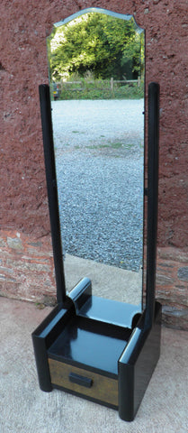 107...Art Deco Cheval Mirror / Free Standing Mirror