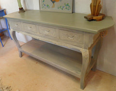 Oriental Hardwood Console Table / Side Table / Sideboard