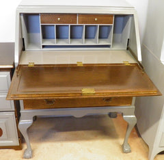 Vintage Upcycled Mahogany Bureau / Writing Desk