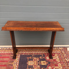 148.....Vintage Arts And Crafts Style Hall Table / Gothic Style Side Table ( SOLD )
