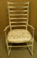 Vintage Shabby Chic Danish Rocking Cair