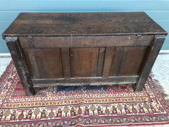 159.....17th Century Antique Carved Oak Coffer / Antique Carved Oak Chest ( SOLD )