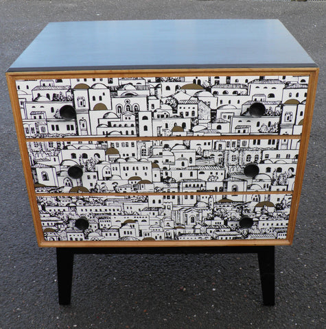 Fabulous Fornasetti Inspired Vintage Retro Chest By Meredew