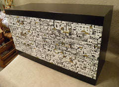 Fabulous Fornasetti Style Retro Chest Of Drawers.