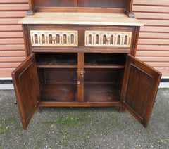 Vintage Carved Oak Dresser In The Old Charm Style