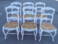 A Set Of Six French Kitchen Dining Chairs Circa 1910