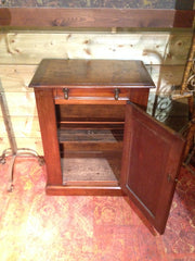 210.....Antique Mahogany Washstand / Large Bedside Cabinet